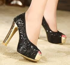 Sparkly with gold! follow my page for more heels!