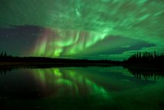 Aurora over Northern Canada. By Ben Leshchinsky