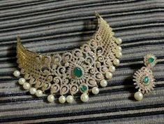 10 Top one gram gold chokers with price. Buy 1 Gram gold chokers necklace with earrings with best price. Check our collections at siri designers Gold Choker Necklace, Silver Pendant Necklace, Gold Pendant, Pendant Jewelry, Jewelry Sets, 1 Gram Gold Jewellery, Gold Jewelry, Jewelery, Handmade Necklaces