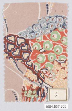 Gustav Klimt textile samples