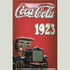 Cartel publicitario Coca-Cola 1923 Metálico 19,95€