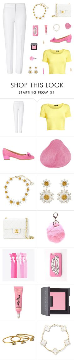 """Absolutely Spring"" by belenloperfido ❤ liked on Polyvore featuring ESCADA, Pilot, Salvatore Ferragamo, Dolce&Gabbana, Chanel, Popband, Missguided, Laura Mercier and Gorjana"