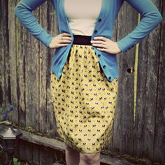 DIY Skirt-An easy tutorial to make cute, customized clothing!
