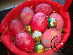 Αυγά με κηρομπογιές και βαφή αυγών! Easter Eggs, Blog