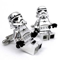 LIMITED Chrome LEGO Star Wars Storm Trooper Cufflinks