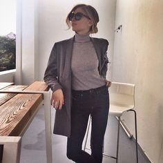 Grey on grey kinda day @stellamccartney @diesel @dblanc #natwears