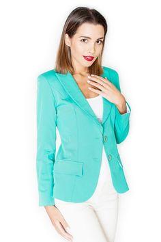 Zielony żakiet damski na podszewce Blazer, Jackets, Women, Fashion, Down Jackets, Moda, Fashion Styles, Blazers, Fashion Illustrations
