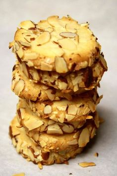 Cream cheese almond cookies. They look SO good.