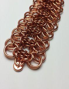 Copper Trizantine Helm cuff bracelet 7 1/4th by Vambracelets