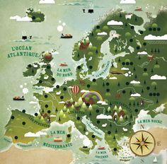 Carte continent Européen