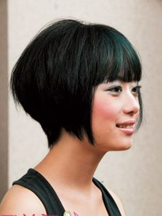 Short Hairstylesbangs 2011 Hairstyles Trendy. This is the cut I want but I think I need Asian hair...
