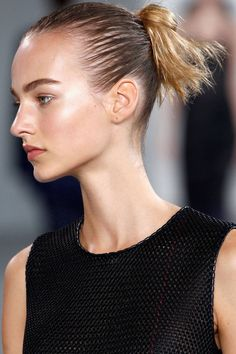 Check out the slick, sexy buns from Calvin Klein Spring 2015