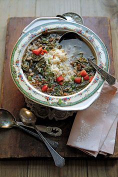 This humble dish of black-eyed peas and rice makes good use of ...