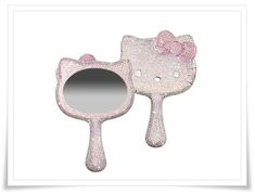 Sephora: Hello Kitty Crystal Dipped Handheld Mirror Made With Swarovski Elements: Mirrors Chat Hello Kitty, Hello Kitty Items, Here Kitty Kitty, Wonderful Day, Hello Kitty Collection, Operation Christmas Child, Everything Pink, My Favorite Color, Favorite Things