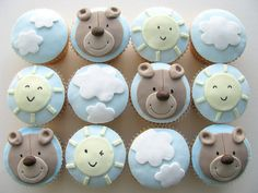 Birthday Cupcakes for a little boy by Sharon Wee Creations, via Flickr