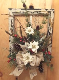 Fantastic Christmas deco detail are available on our web pages. Check it out and you wont be sorry you did. Picture Frame Wreath, Christmas Picture Frames, Picture Frame Crafts, Christmas Pictures, Christmas Wreaths To Make, Rustic Christmas, Christmas Projects, Christmas Decorations, Christmas Ornaments