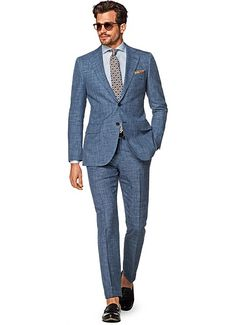 Suit Blue Plain Lazio P5132i | Suitsupply Online Store