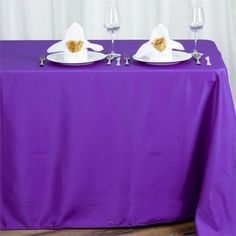 x Polyester Rectangular Tablecloth - Purple Rainbow Wedding Decorations, Table Decorations, Banquet Tables, Party Tables, Table Overlays, Floral Tablecloth, Theme Color, Wedding Linens