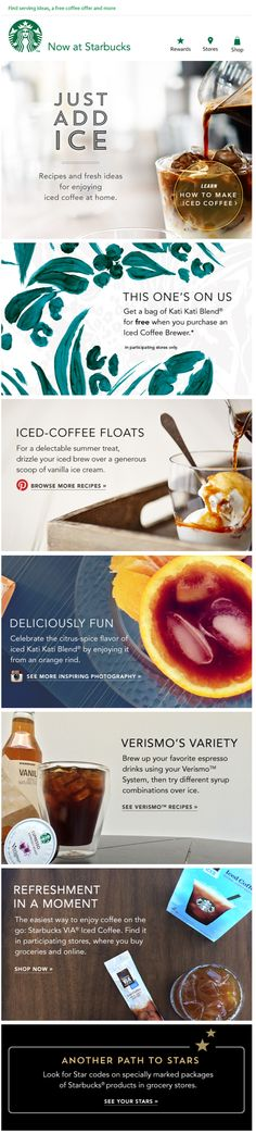 Starbucks newsletter email blast design #coffee #foodstyling #photography