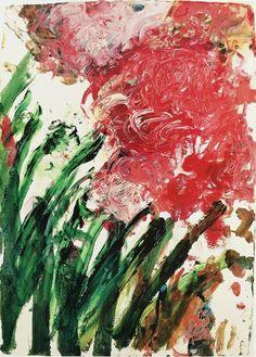 poboh:    Untitled, 1990, Cy Twombly. American Abstract Expressionist Painter, Sculptor (1928 - 2011)