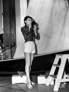 "Audrey Hepburn. ""Sabrina Fair"" 1954, ""Sabrina"" Directed by Billy Wilder Photographic Print at Art.com"