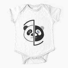 Panda Head, Baby Onesie, Simple Dresses, Dressing, One Piece, Printed, Awesome, Fabric, Kids