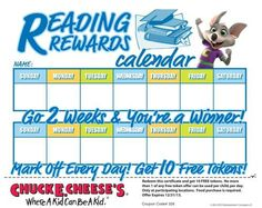 chuck e cheese reading program
