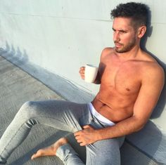 Coffee & Chill Pants. #joshuamiguel #menandcoffee #menstyle #longjohns #menswear