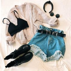 Teen Fashion Outfits, Outfits For Teens, Girl Outfits, Summer Outfits, Cute Casual Outfits, Short Outfits, Stylish Outfits, Teenager Outfits, Aesthetic Clothes