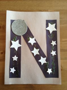 N is for Night - March 31 - Letter Craft