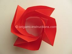 Origami Rose Bowl - I'm still impressed by how realistic it looks.
