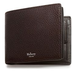 Mulberry 8 Card Coin Wallet (395 CAD) ❤ liked on Polyvore featuring men's fashion, men's bags, men's wallets, chocolate, mens coin wallet, mulberry mens wallet, mens snap wallet and mens front pocket wallet