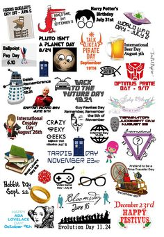 Geek Annual Holidays planner stickers for ECLP IWP kikkik Special Day Calendar, International Beer Day, Diy And Crafts, Paper Crafts, Free Comic Books, Holiday Planner, Star Wars Day, Day Planners, Happy Planner