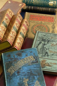 "The library where I am employed owns those golden Dickens volumes. I desire immensely to own ""About Bees""."