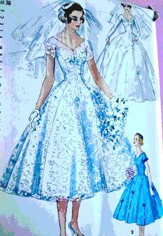 50s style wedding dress patterns | DIY-wedding-dress-vintage-wedding-dress-pattern.bmp