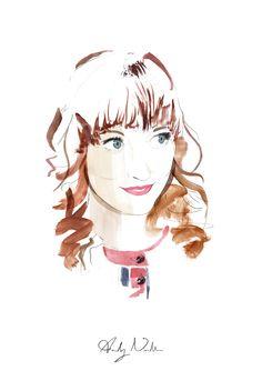 illustration drawing watercolour watercolor pencil sketch face portrait art artist ink  paint beauty eyes hair
