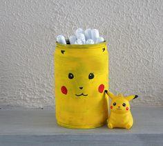 DIY pot à crayon Pikachu Pokemon pencil cup Pikachu, Pokemon, Pencil Cup, Diy, Crafts, Home Decor, Children, Manualidades, Decoration Home
