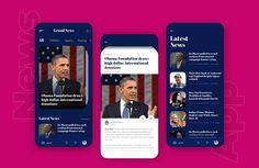 Ui Design News Infographics - Philippe Kubiak Ui Design Tutorial, Best App Design, App Ui Design, App Design Inspiration, Mobile News, Mobile App Ui, Design Websites, Infographics Design, Layout Design