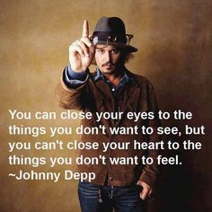 Johnny Depp can look good while saying it well.