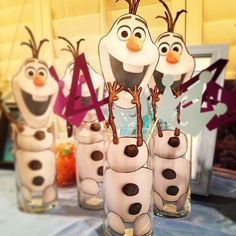 Disneys Frozen - Olaf centerpieces #diy