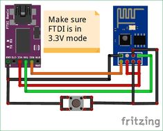 ESP8266 Programming Mode Circuit diagram