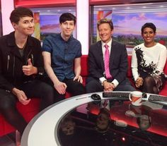 Dan and Phil on BBC breakfast