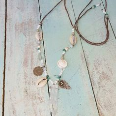 #Repost @littlebluebirdjewellery  Crystal quartz necklace with Hill Tribe Silver and shells on adjustable water durable poly cord $40 free shipping Aust wide. #hilltribesilver#sterlingsilver#longnecklace#longnecklaces#turquoise#shellnecklace#cowrieshellnecklace#beachstyle#seagypsy#seadreaming