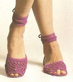 Sandalias tejidas a crochet Como tejer sandalias, chalas a crochet OjoconelArte.cl |