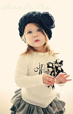 Little girl fashion.... I love the hat