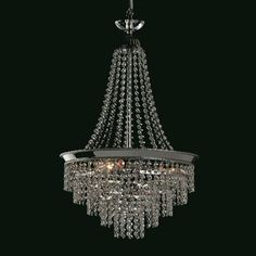 Herne lead crystal chandelier finished in nickel. This traditional style Empire chandelier has lead crystal strass prisms, this pendant has a facet cut. Hallway Chandelier, Chandelier For Sale, Empire Chandelier, Hanging Crystals, Crystal Pendant, Outdoor Lighting, Floor Lamp, Ceiling Lights, Pendants