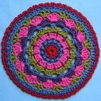 Crochet Mandala Wheel made by Elien, Aberdeen, UK for yarndale.co.uk
