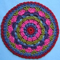 Crochet Mandala Wheel made by Elien, Aberdeen, UK for yarndale.co.uk