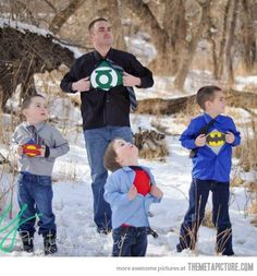 Awesome superhero family photo shoot…