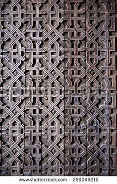 The door of the Church of Saint Gevork in Mughni, Armenia - stock photo